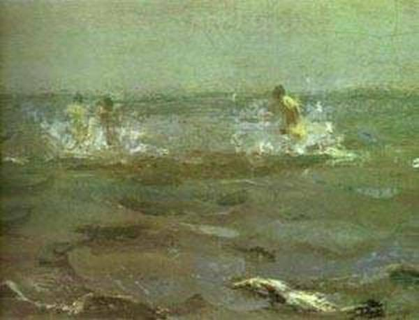 bathing of a horse detail 1905 XX the russian museum st petersburg russia